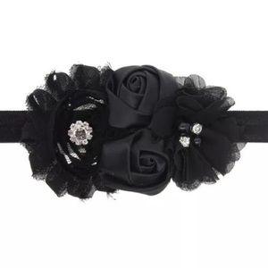 Other - Black Shabby Baby Toddler Headband